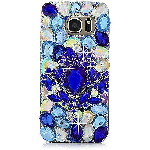 Spritech (TM) Bling, 3d hecho a mano diseño de cristal de colores Transparente Carcasa rígida para teléfono móvil funda, PT-2, Samsung Galaxy S6 Edge Plus S6
