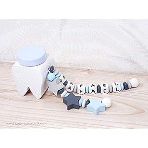 Milchzahndose Junge / Zahndose mit Namen / Milchzahndose Mint