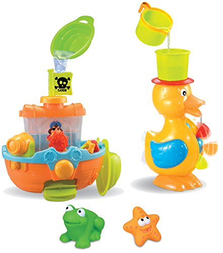 Spielzeug-Set für die Badewanne, 3-teilig (Boot Ums)