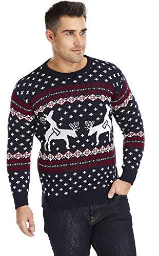Pullover Hässlich Spiele Weihnachten (UglyXmas Die Weihnachtspullover Aller  Zeiten   Rentiere genießen Ihr humorvolles Spiel 4a8f2c7f93