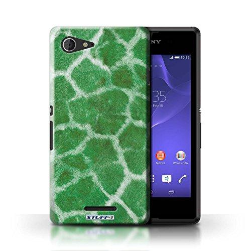 Kobalt® Imprimé Etui / Coque pour Sony Xperia E3 / Pourpre conception / Série Girafe animale Peau/Motif Vert