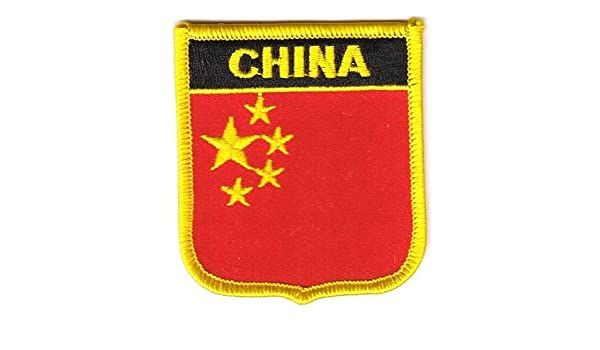 Aufn/äher Patch China Fahne Flagge FLAGGENMAE/®