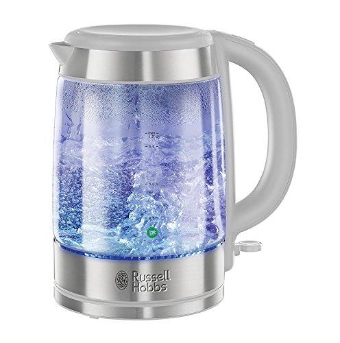 Russell Hobbs 21601-10 Weiß leuchtendes Glas 1.7L 3 Kw Cordless Wasserkocher