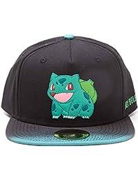Pokemon Baseball Cap Bulbasaur rubber patch dip dye Official Black Snapback  One Size 4e73b642f054