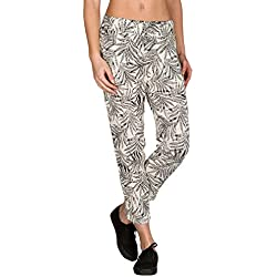 Volcom In My Lane Pant-Pantalones-In My Lane Pant-Mujer, Mujer, B1111702, Vintage White, L (Talla del Fabricante: L)