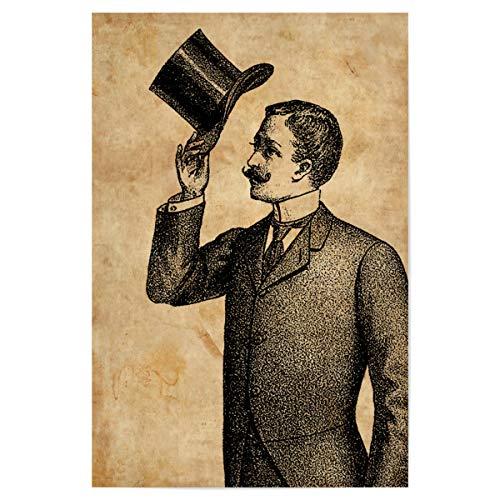 artboxONE Poster 60x40 cm Menschen Viktorianischer Gentleman - Bild Viktorianischer -