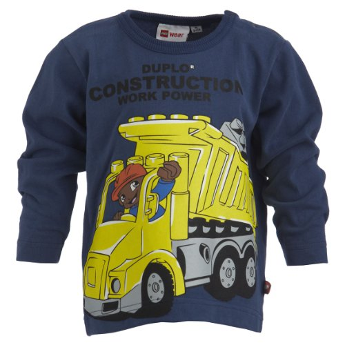 LEGO Wear Baby - Jungen Sweatshirt TOKE 103 - LEGO duplo T-SHIRT L/S, Gr. 80, Blau (580 DARK BLUE)