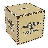 Azeeda Grande 'Meditazione in Corso' Salvadanaio in Legno (MB00052232)