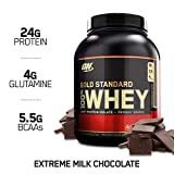 Optimum Nutrition Gold Standard Whey Eiweißpulver (mit Glutamin und Aminosäuren. Protein Shake von ON), Extreme Milk Chocolate Eiweiß, 71 Portionen, 2,27kg -