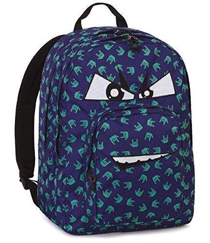 Zaino invicta , dial pack fantasy , blu , 38 lt , doppio compartimento , tasca per portatile