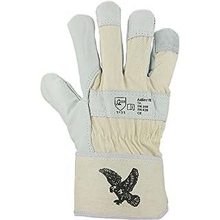 Asatex Eagle M Cow Grain Leather Glove with Foam Lining Cuff, Natural, Einheitsgröße