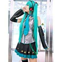 Dosige Hatsune Miku Peluca De mujeres Cabello Cosplay Disfraz Peluca Ideal para Disfraz de anime