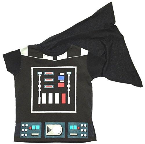 Jungen T-Shirt Mit Cape Character Verkleidung Kurzärmeliges Top Kinder Kostüm Größe EU 2-7 Jahre - Darth Vader mit Cape, 2-3 Years