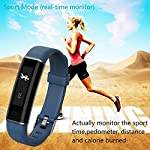 YAMAY Fitness TrackerSlim Activity Tracker Watch With Sleep MonitorStep Counter Calorie CounterIP67 Waterproof Pedometer Smart Watch For Women Men Call SMS SNS Push For IOS Android Phone