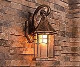 Lying Outdoor-Wandleuchte imprägniern im Freienlampen-Patio-Balkon Treppen-Außenwand-Wand-Lampe finden (Farbe : B)