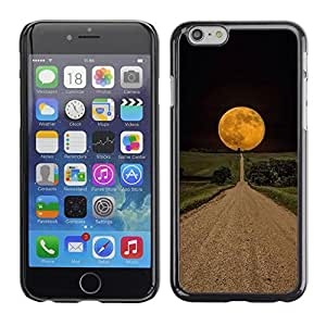 Omega Covers - Snap on Hard Back Case Cover Shell FOR Iphone 6/6S (4.7 INCH) - Road Hope Black Night Field