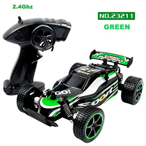 Elektrische RC Auto, Gusspower Drahtlose Fernbedienung Fahrzeuge RC Buggy Spielzeugauto, 1/20 Skala 2WD 2,4 GHz High Speed RC Monster Truck Rennauto, Beste Geburtstagsgeschenk für Kinder (Grün) (Monster Trucks Monster Energy)