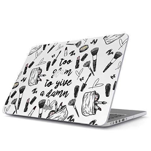 Glitbit Hülle Kompatibel für MacBook Pro 13 Zoll aus den Jahren 2012-2015, Modell: A1502, A1425 Retina Display Damn Tumblr Quotes Makeup Goals Slay Sassy Glam Girl Highlight Plastik Case