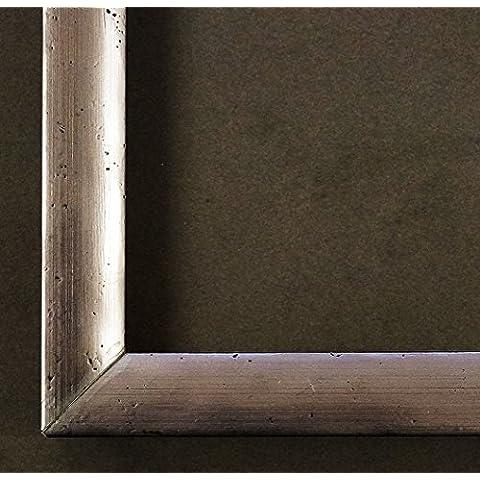 Cornice Ferrosa Pewter argento 2,0 - con Plexiglas - 20