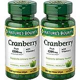 Natures Bounty Cranberry Fruit 4200 mg, Plus Vitamin C, 120 Softgels