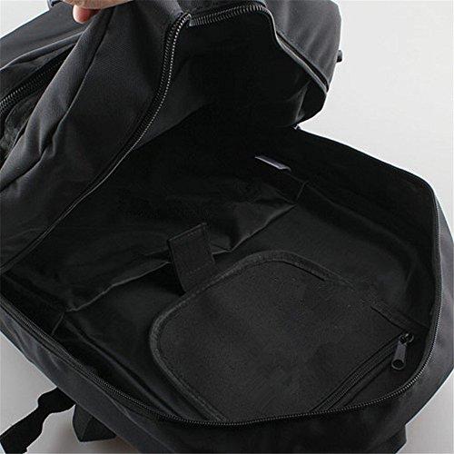 Viaggio zaino capiente borsa a tracolla tela zaino impermeabile Outdoor arrampicata borse computer, Orange Black