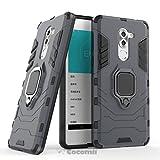 Cocomii Black Panther Armor Huawei Honor 6X/Mate 9 Lite/GR5 2017 Funda [Robusto] Anillo Metálico Soporte [Funciona con El Montaje De Coche Magnético] Case Carcasa for Huawei Honor 6X (B.Black)