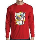 Die besten Verrückte Hunde-T-Shirts Frau-T-Shirts - Langarm Herren t Shirts Ich Liebe Meine Verrückte Bewertungen