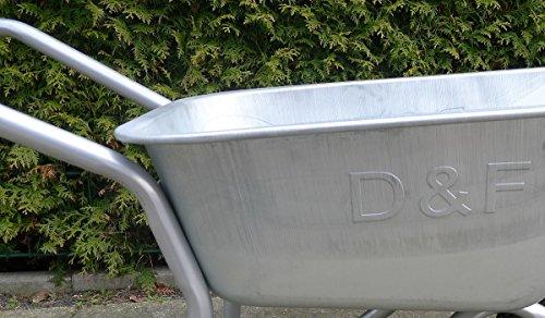 Schubkarre 200Kg für Garten, Bau und Stall mit Stahlfelge, Vollverzinkt, Pulverbeschichtet - 2