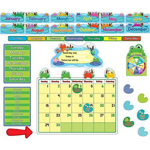 Funky Frogs Calendar Bulletin Board Set
