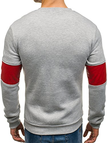 ... BOLF Herren Sweatshirt Langarmshirt Pullover Longsleeve Classic Mix 1A1  Grau 819 ... ef41f60870