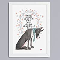 """""""Hund & Liebe"""" Kunstdruck ohne Rahmen"""