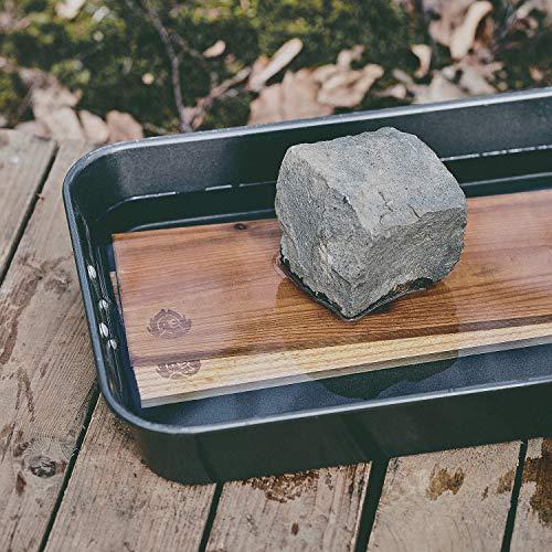515FeIC4BWL - Räucherbretter aus kanadischem Zedernholz, Grillbretter, Set glatte und raue Oberfläche, unbehandelt, Gratis Rezept (PDF) - 4er Set