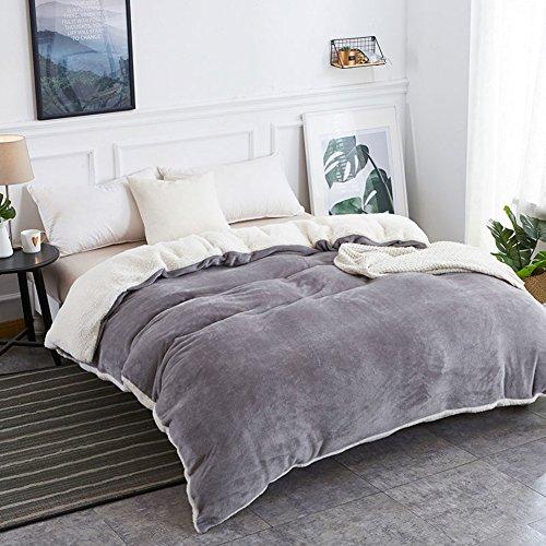 Decken Quilt cover Quilt sets Dicke double layer quilt cover Warme coral velvet quilt cover Quilt cover Quilt cover Einzelner bettbezug-C 180x200cm(71x79inch) (Velvet Double-layer)
