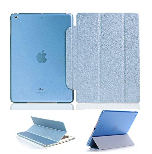 Luch iPad Mini Hülle, Glitter Seide Series Schutzhülle Cover Case Tasche mit Hart PC Durchschaubar Rücken Deckel mit Auto Schlaf/Wach und Standfunktion für iPad Mini 1 2 3, Hellblau