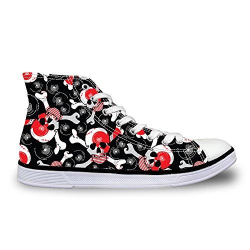AXGM Zapatillas de Lona para Mujer, Calaveras, Zapatos de...