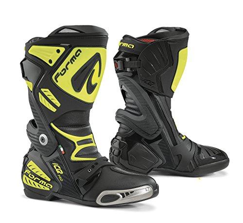 Forma FORV220-997838Stivali Moto Ice Pro Omologata CE, Nero/Giallo Fluo, 44