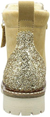 Tamaris 26490, Bottes Chelsea Femme Beige (Beige/Gold Gl  463)