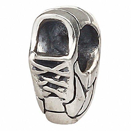 Sneaker Sportive Scarpe serpente per 3mm in argento Sterling 925Charm Bracelet
