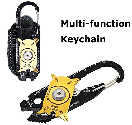 Preisvergleich Produktbild AOAO Gadget Portable EDC Portable Mini Utility 20 in 1 Pocket Multi Tool Schlüsselanhänger Outdoor Camping Key Ring