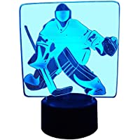 InnoWill Hockey Cadeau LED Lampes D'ambiance Illusion Décoration 7 Couleurs