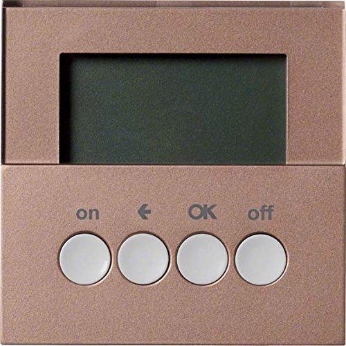 Preisvergleich Produktbild Hager Funk-Schaltuhr quicklink WYC428Q Bronze Bussystem-Zeitschaltuhr 3250617031110