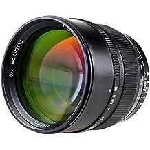 Zhongyi 85mm F1.2 Lente de distancia focal fija de 85mm apertura máxima de F1.2 sensacional Nikon AI(F) negro