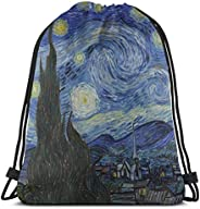 MSGUIDE Unisex Drawstring Backpack Waterproof Gympack String Bag Casual Daypack for Sport Gym Yoga Travel Scho