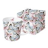 PPD Butterfly Dream Trend Kaffeebecher, Kaffeetasse, Kaffee Becher, New Bone China, Mehrfarbig, 350 ml, 603296