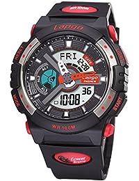 Exhibición doble / reloj electrónico de múltiples funciones / reloj militar luminoso / reloj de los deportes / tabla de salto impermeable / relojes de los hombres , black n2