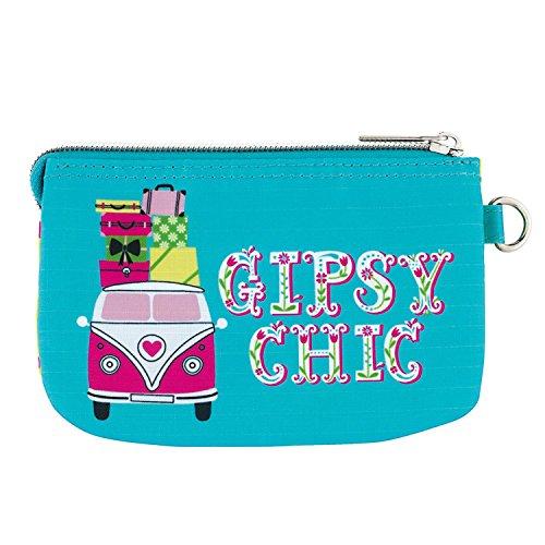 Derrière La Porte DLP : Porte-monnaie Double GIPSY CHIC Bleu Vert Hippie pour Fille Femme
