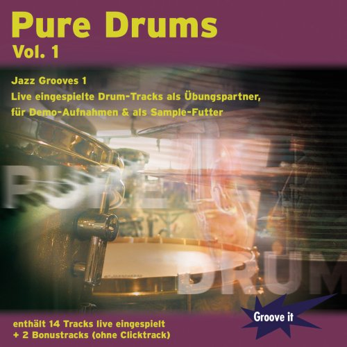 Price comparison product image Pure Drums Vol. 1 - Jazz Grooves 1 - auch zum Sampeln geeignet