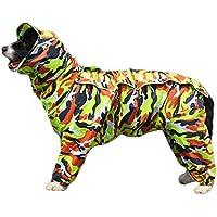 Impermeable Perro TFENG con Capucha extraíble, cordón Ajustable al Aire Libre, Velcro Chaqueta Capucha y Cuello, 10 tamaños y 7 Colores