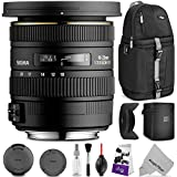 Sigma 10-20mm F/3.5 EX DC HSM ELD SLD Wide-Angle Lens For NIKON DSLR Cameras W/ Sential Photo And Travel Bundle