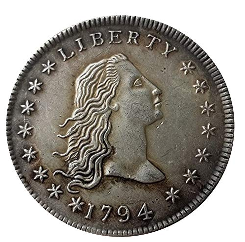 Maßpoke Souvenirs 1794 Year Liberty Silberfarbene Dollar-Münze -